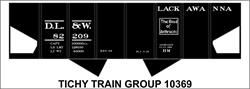 #10369-6S DL&W 2 BAY STEEL HOPPER DECAL 6 SETS
