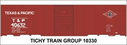 #10330-6S T&P 40' STEEL BOXCAR DECAL 6 SETS