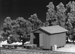 Tichy Train Wayside Structures Milk Station Handcar Kit