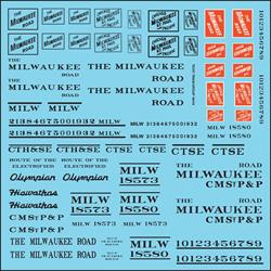 #10414 MILWAUKEE ROADNAME SET BLACK