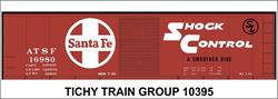 #10395-6S ATSF 40' STEEL BOXCAR DECAL 6 SETS