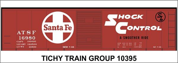 #10395S ATSF 40' STEEL BOXCAR DECAL
