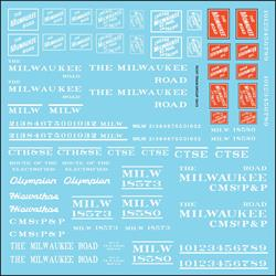 #10413 MILWAUKEE ROADNAME SET WHITE