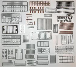 STRUCTURE PARTS ASSORTMENT HO SCALE