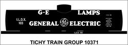 #10371-6S GE LAMPS TANK CAR DECAL 6 SETS