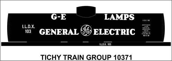 #10371 GE LAMPS TANK CAR DECAL