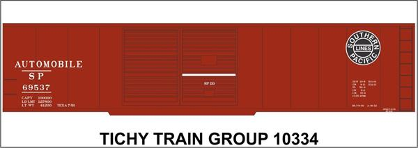 #10334S SP 50' STEEL BOXCAR DECAL