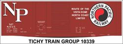 #10339-6O NP 40' DBL DOOR STEEL BOXCAR DECAL 6 SETS