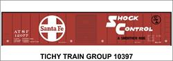 #10397-6S ATSF 50' STEEL BOXCAR DECAL 6 SETS