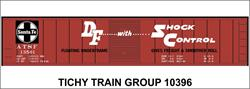 #10396-6S ATSF 50' STEEL BOXCAR DECAL 6 SETS