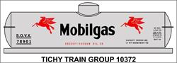 #10372 MOBILGAS TANK CAR DECAL