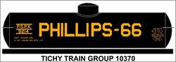 #10370-6N PHILLIPS 66 UNIVERSAL TANK CAR DECAL 6 SETS