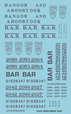 #10427-6S BAR ROADNAME SET BLUE 6 SETS