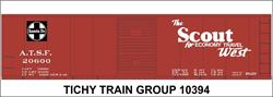 #10394-6S ATSF 40' STEEL BOXCAR DECAL 6 SETS