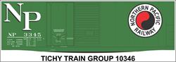 #10346-6O NP 40' DBL DOOR STEEL BOXCAR DECAL 6 SETS