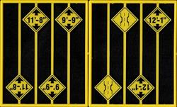 #2083 BRIDGE WARNING SIGNS O